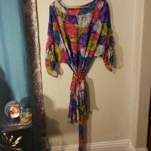 Lane bryant color bust tunic